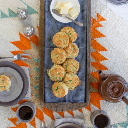 White Cheddar and Scallion Biscuits