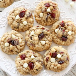 White Chip and Craisin Oatmeal Cookies