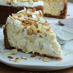 White Chocolate & Almond Amaretto Cheesecake