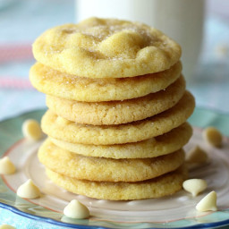 White Chocolate Lemon Sugar Cookies