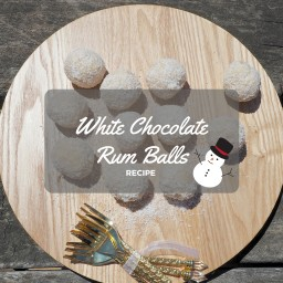 White Chocolate Rum Balls