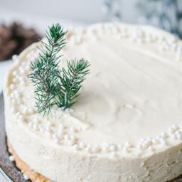 White Christmas Truffle Cake