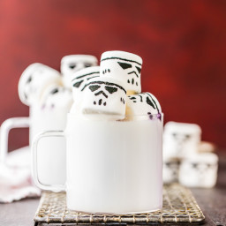 White Hot Chocolate with Stormtrooper Marshmallows