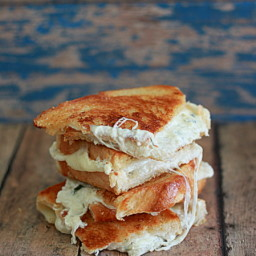White Pizza Grilled Cheese Quesadilla (LC)