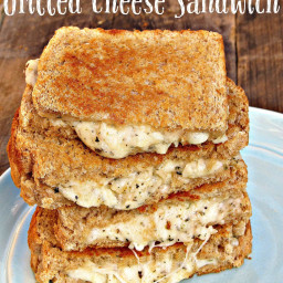 White Pizza Grilled Cheese Sandwiches