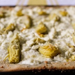 White Pizza with Artichokes