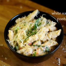 white sauce pasta recipe | pasta recipe in white sauce