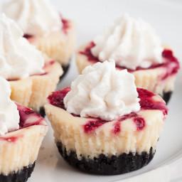 White Chocolate Raspberry Cheesecakes Bites
