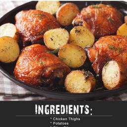 Whole 30 Garlic Mustard Airfryer Chicken and Potatoes