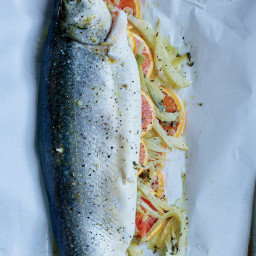 Whole Baked Trout with Fennel and Orange