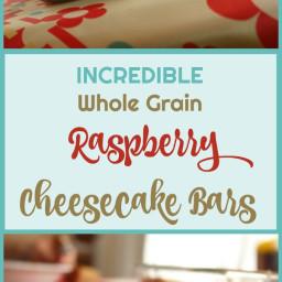 Whole Grain Raspberry Cheesecake Bars