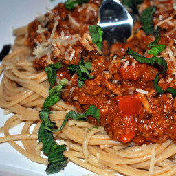 Whole Grain Spaghetti with Meat Sauce