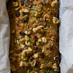 whole grain zucchini bread with honey and walnuts