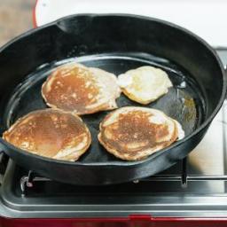 Whole-Grain Lemon-Buttermilk Pancakes with Strawberries