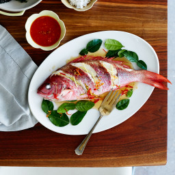 Whole Red Snapper with Roasted Tomato Sauce