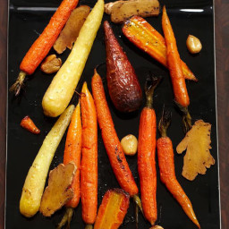 Whole Roasted Carrots with Fresh Ginger