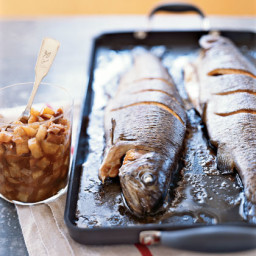 Whole Roasted Trout with Asian Pear-Fig Chutney