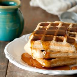 Whole Wheat &  Flax Waffles