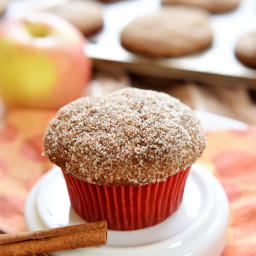 Whole Wheat Apple Cinnamon Muffins