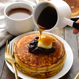 Whole Wheat Cornmeal Pancakes