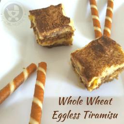 Whole Wheat Eggless Tiramisu