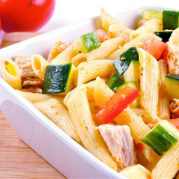 Whole-Wheat Pasta with Chicken and Vegetables