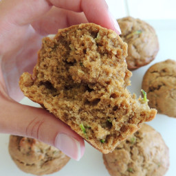 Whole Wheat Peanut Butter and Banana Zucchini Muffins