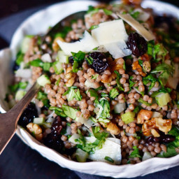 Whole Wheat Pearl Couscous with Cherries and Arugula