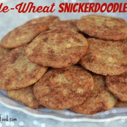 Whole-Wheat Snickerdoodles (50% whole-wheat)