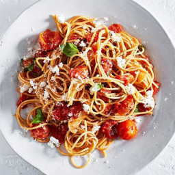 Whole Wheat Spaghetti with Roasted Tomato Sauce