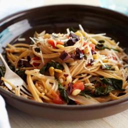 Whole-Wheat Spaghetti with Swiss Chard and Pecorino Cheese