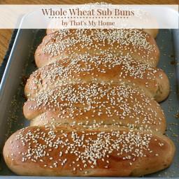 Whole Wheat Sub Buns