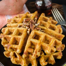 Whole Wheat Sweet Potato Waffles