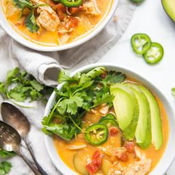 Whole30 Instant Pot Chicken Tortilla-Less Soup