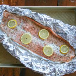 Whole30 Roasted Lemon Salmon in Foil