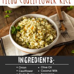 Whole30 Slow Cooked Pilau Cauliflower Rice