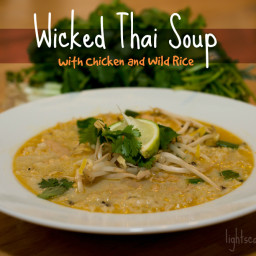 Wicked Thai Soup with Chicken and Wild Rice