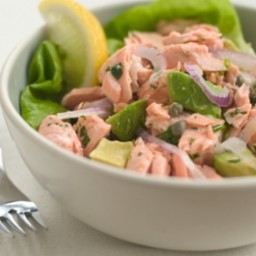 Wild Alaska Salmon and Avocado Salad
