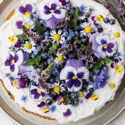 Wild Blueberry Lemon Poppy Seed Cake with Whipped Coconut Cream