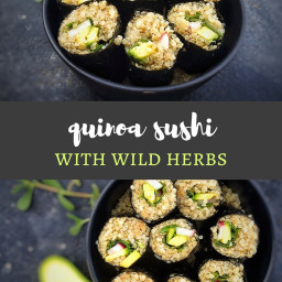 Wild Herb and Quinoa Sushi