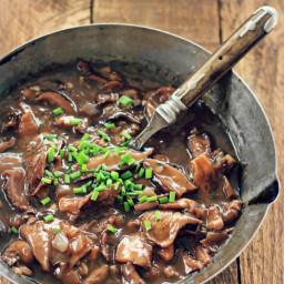 Wild Mushroom Gravy with Red Wine {vegan, grain free, gluten free}