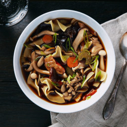 Wild Mushroom Noodle Soup
