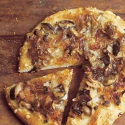 Wild Mushroom Pizza with Caramelized Onions, Fontina, and Rosemary