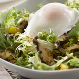 Wild Mushroom Salad with Poached Egg