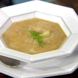 Wild Mushroom Soup with Chestnuts and Roasted Fennel