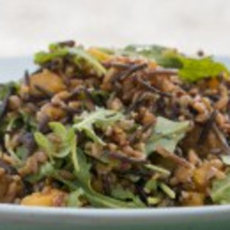 Wild Rice and Farro Salad with Pan Roasted Squash and Arugula