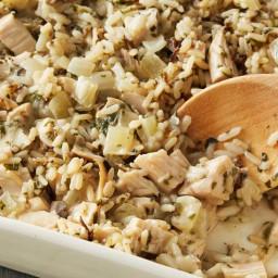 Wild Rice and Turkey Casserole