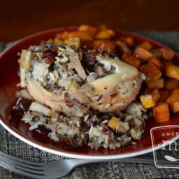 Wild Rice Stuffed Chicken Breast