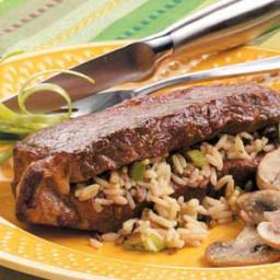 Wild Rice-Stuffed Steaks