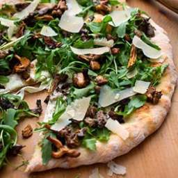 Wild Mushroom Pizza with Arugula and Pecorino